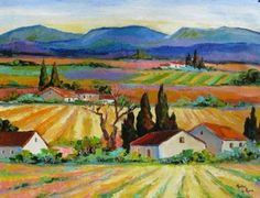 The beautifull colours and vinyards of the Cape inspired this painting Flower Landscape, Watercolor Landscape, Landscape Paintings, Watercolor Art, Landscapes, Diy Painting, Painting & Drawing, South African Artists, Light Orange