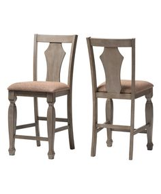 Another great find on #zulily! Gray & Wheat Ariana Counter Stools - Set of…
