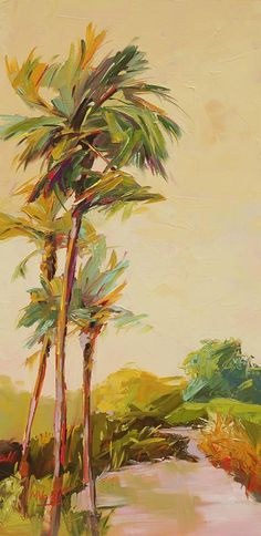 Palm Trees Painting - Easy Breezy by Marissa Vogl Palm Tree Art, Palm Trees, Hawaiian Art, Tropical Art, Tropical Paintings, Guache, Beach Art, Wall Sculptures, Landscape Paintings