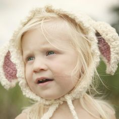 Organic Little Lamb Hat  Eco Friendly Baby  Hand Knit  by joretta