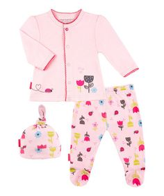Loving this Pink Bloom Take Me Home Cardigan Set - Preemie & Infant on #zulily! #zulilyfinds