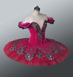 Professional Ballet Tutu Platter Dance Costume Competition Performance Burgundy