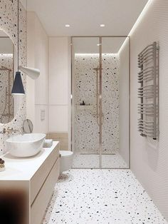 #Bathroom #design #kid #Modern #Small #Speckled How fun is this bathro Kalasabasein #interior design ideas for a living room #scandinavian interior design #interior design schools best #minecraft interior design Top 50 Best Blue Bathroom Ideas – Navy Themed Interior Designs Such a simple and clean white and black bathroom design. – M Loves M M Loves M Such a delicious dinner recipe idea! Don't know how to light up a bathroom? These amazing bathroom lighting ideas will help you turn your…