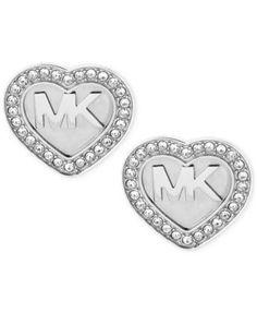 6f1d97b1bd5 MICHAEL KORS Michael Kors Logo Heart Pavé Stud Earrings. #michaelkors # all  fashion jewelry