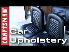 In this episode of the Restoration Rollout 2012 Sandy Ganz takes worn out car seats to the car upholstery expert. Watch as we redo the upholstery, repadding . Mini Trucks, Old Trucks, Car Seat Upholstery, Chevy S10, Nissan Patrol, Cool Cars, Car Seats, Restoration, Man Stuff