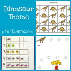 Dinosaur Theme Activities in Preschool | Pre-K Pages