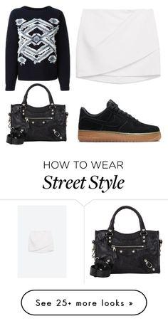 """STREET STYLE"" by josephinebendixen on Polyvore featuring мода, Zara, NIKE, Vanessa Bruno и Balenciaga"