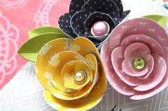 Avery elle embellish it flower Fabric Flowers, Paper Flowers, Paper Light, Flower Crafts, Some Fun, Embellishments, Paper Crafts, Card Ideas, Projects
