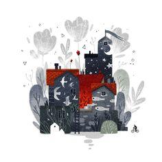 Просмотреть иллюстрацию Странный дом из сообщества русскоязычных художников автора Суворова Анастасия в стилях: 2D, нарисованная техниками: Компьютерная графика.
