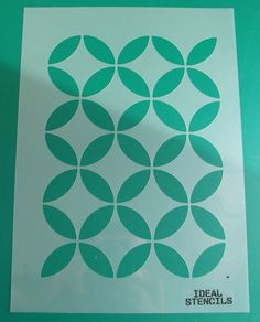 Moroccan circles wallpaper stencil Moroccan by IdealStencils