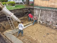 """Pouring 20"""" footings"""