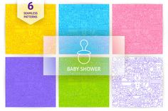 Baby Shower Line Seamless Patterns - Patterns
