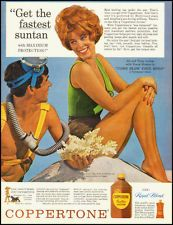1963 vintage ad for Coppertone Sun Tan Lotion with Jill St. John  -091412