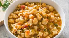 Pasta e Ceci (Pasta with Chickpeas) . Pasta and chickpeas is a homey Italian standard. Our tweaks added depth but not fuss. Pasta E Ceci Recipe, Pasta Recipes, Soup Recipes, Vegetarian Recipes, Chick Pea Pasta Recipe, Free Recipes, Noodle Recipes, Recipies, Dinner Recipes
