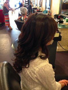 Curls blowout hair