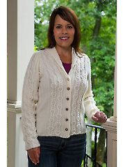 Knit - Cabled Panel Cardigan Knit Pattern - #707944