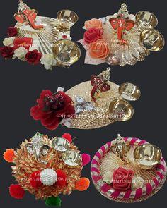 Diya decoration Diwali Decoration Items, Thali Decoration Ideas, Handmade Decorations, Diwali Craft, Diwali Rangoli, Diwali Gifts, Art N Craft, Craft Stick Crafts, Craft Work