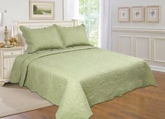 All for You 3-piece Reversible Bedspread/ Coverlet / Quilt Set with embroideries (sage, king), http://www.amazon.com/dp/B00YJODV9A/ref=cm_sw_r_pi_awdm_-Vrrxb02ZYCG1