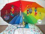 Under the umbrella sensory play