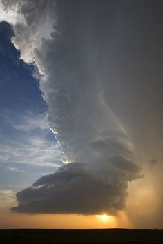 Towering thunderstorm at sunset!