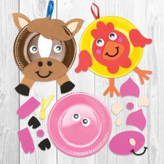 Creating #AnimalCrafts can be so simple with #PaperPlates and #Foam! #KidsCrafts #DIY #BakerRoss
