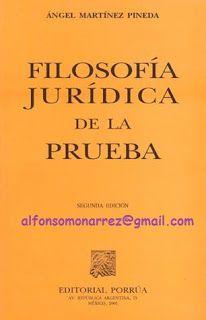 LIBROS EN DERECHO: FILOSOFÍA JURÍDICA DE LA PRUEBA