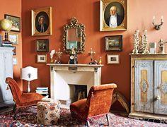 Burnt orange Living Room Decor New 17 Best Ideas About Burnt orange Rooms On Pin. Burnt Orange Rooms, Burnt Orange Living Room Decor, Orange Walls, Red Walls, Orange Paint Colors, Wall Colors, Elle Decor, Colorful Interiors, Interior Design
