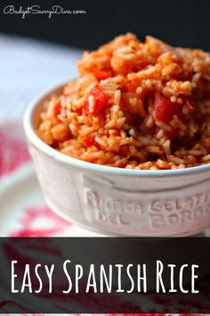The easiest and BEST Spanish Rice Recipe. Gluten - Free and Done in 30 minutes! Easy Spanish Rice Recipe #rice #spanishrice #glutenfree #recipe #budgetsavvydiva via budgetsavvydiva.com