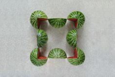 gerangschikte meloenen