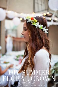 DIY SUMMER FLORAL CROWNS by @merricksart | Floral crown tutorial