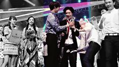2Min : A proud boyfriend. He is smiling from ear to ear the moment he announce Taemin's winning and he can't stop smiling. Awww, my babies are just so cute! And Taeminnie, u deserved that award!
