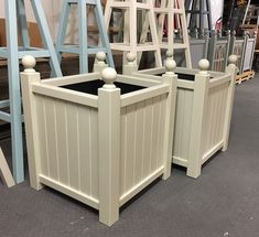 Versailles Style Planters, made to order, painted RAL code 7032 Paint Brands, Versailles, Wooden Garden, Engineered Wood, Ral Paint, Trough Planters, Wood Paneling, Wooden Garden Planters, Wooden