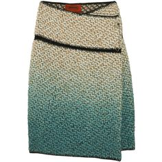 Missoni Cedro Ombré Chunky-Knit Skirt (6 455 UAH) ❤ liked on Polyvore featuring skirts, bottoms, gonne, women, green skirt, missoni skirts, multi colored skirt, multi color skirt and wrap skirt