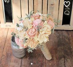 Ivory, blush, nude sola flower bouquet