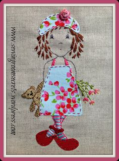 Hand embroidery pattern  'A Pocketful of Posies'