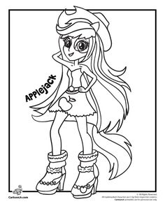 applejack my little pony rainbow rocks equestria girls cartoon jr
