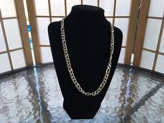 Heavy Sterling Silver Link 20 Inch Mens Necklace