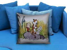 Adventure Calvin and Hobbes  These soft pillowcase made of 50% cotton, 50% polyester.  It would be perfect to decorate your home by using our super soft pillow cases on sofa, chair, bench or bed.  Customizable pillow case is both comfortable and durable, improving the quality of your sleep with these comfortable pillow case, take it home now!  Custom Zippered Pillow Cases available in 7 different size (16″x16″, 18″x18″, 20″x20″, 16″x24″, 20″x26″, 20″x30″, 20″x36″)