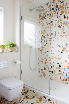 Shower Room - A modern mid-century house decorated in a scheme inspired by the 1930 Stockholm Exhibition - real homes on HOUSE by House & Garden Bathroom Tile Designs, Bathroom Design Small, Bathroom Interior Design, Modern Bathroom, Bathroom Ideas, Master Bathroom, Budget Bathroom, Vanity Bathroom, Boho Bathroom