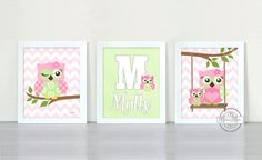 Owl Nursery Decor Owl Print wall art Set of three 8 x by MuralMAX, $45.00