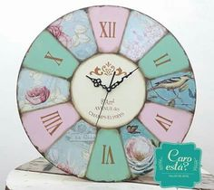 Reloj Shabby Chic, lo realize a mano