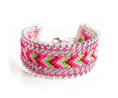 Bracelet Brésilien San Diego Rose Fluo  A shopper sur www.autreshop.com !