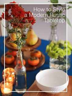 Inspiration to style a modern #rustic #tabletop #centerpiece