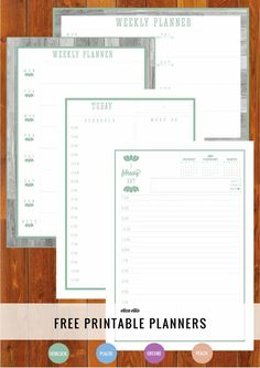 The Ultimate Free Printable Home Organizer Weekly and Daily Planners and Day to a Page Diary in Orchid, Hemlock, Peach and Placid