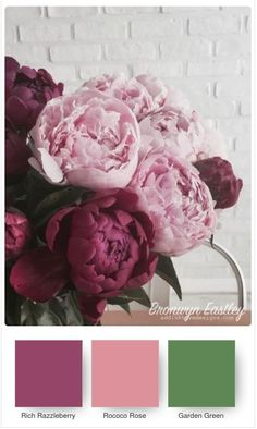 Stampin' Up! ® Colour Combinations for the Prized Peony Bundle