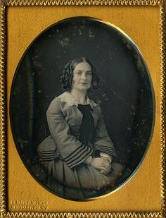 Gorgeous Lady ¼ Plate Daguerreotype by C H Williamson of Brooklyn New York | eBay