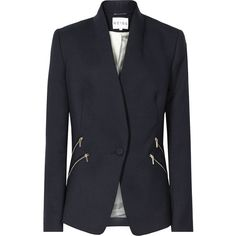Reiss Arya Streamlined Slim-Fit Blazer ($425) via Polyvore