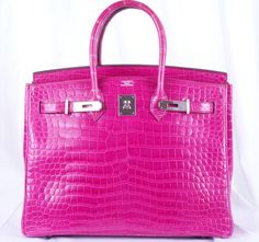 hermes birkin  I wwant one of these soooo bad.  Too bad they are many thousands of dollars!!