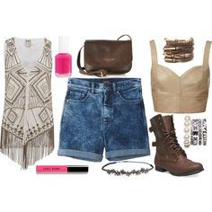 A fashion look from November 2014 featuring brown top, Haute Hippie and short shorts. Browse and shop related looks. Shoe Bag, Polyvore, Stuff To Buy, Shopping, Collection, Design, Women, Fashion, Moda