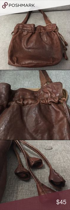 Lucky Brand Lamb Leather Shoulder Hobo Bag Pre-loved vintage-look Lucky Brand hobo handbag. Handbag is in good condition. Please comment if you have any questions. Lucky Brand Bags Hobos